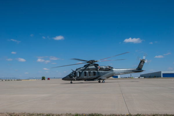 The new BELL525 test aircraft
